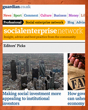 The Guardian newspaper has created the Social Enterprise Network, an online space combining insight and advice to contribute to the community of practice in the social enterprise sector.